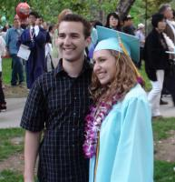 jessica and justin at her high school graduation